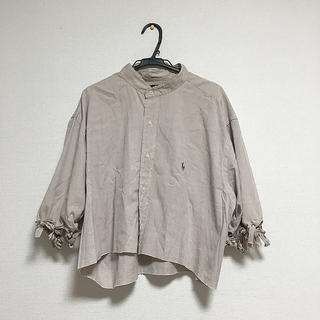 ラルフローレン(Ralph Lauren)のRalph Lauren リメイクシャツ バンドカラー ベージュ モカ(シャツ/ブラウス(半袖/袖なし))