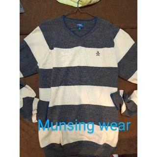 マンシングウェア(Munsingwear)のMunsingwear セーター ボーダー L(ニット/セーター)