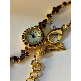 アガット(agete)のアガット ガーネット 腕時計 美品(腕時計)