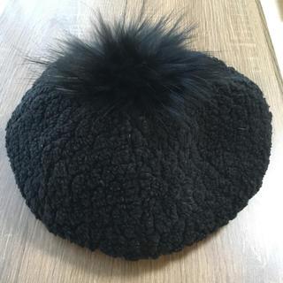 バーバリーブルーレーベル(BURBERRY BLUE LABEL)の BURBERRY BLUE LABEL ベレー帽 黒 57㎝(ハンチング/ベレー帽)