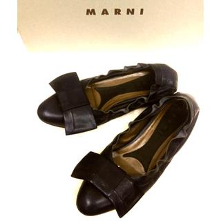 マルニ(Marni)のマルニ 牛革フラットレザーシューズ(ハイヒール/パンプス)