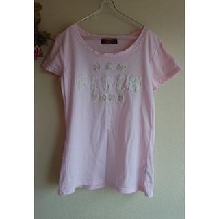 アバクロンビーアンドフィッチ(Abercrombie&Fitch)の【Abercrombie&Fitch  】アップリケ半袖Tシャツ*ピンク(Tシャツ(半袖/袖なし))