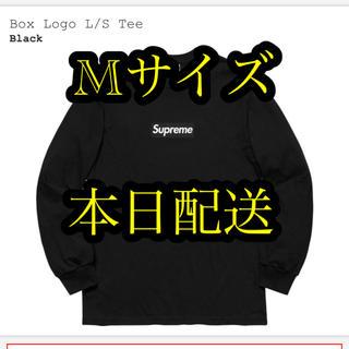 シュプリーム(Supreme)のsupreme Box Logo L/S Tee BLACK M(Tシャツ/カットソー(七分/長袖))