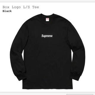 シュプリーム(Supreme)のSUPREME BOX LOGO L/S  BLACK  Sサイズ(Tシャツ/カットソー(七分/長袖))