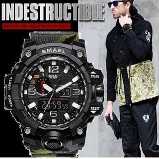 ■2020新品!■ ダイバーズウォッチ 森林迷彩上2 メンズ レディース 腕時計(腕時計(デジタル))