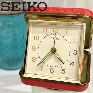 セイコー(SEIKO)の52 セイコー手巻き時計 置き時計持ち運び アラームあり アンティーク 稼働品(置時計)