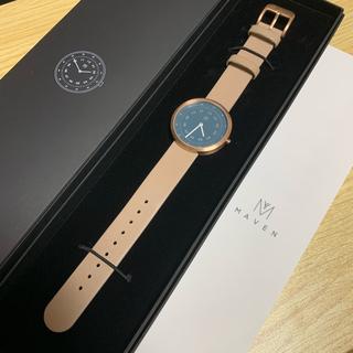 ビューティアンドユースユナイテッドアローズ(BEAUTY&YOUTH UNITED ARROWS)の【値下げ中】腕時計 MAVEN WATCHESレザー34mmフェイスウォッチ(腕時計)