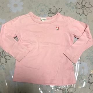 サンカンシオン(3can4on)の3can4on ☆ ピンク うさぎロゴ ロンT(Tシャツ/カットソー)