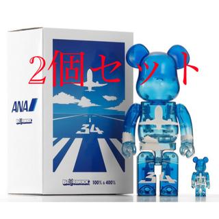 メディコムトイ(MEDICOM TOY)のBE@RBRICK for ANA 100% & 400%  2個セット(フィギュア)