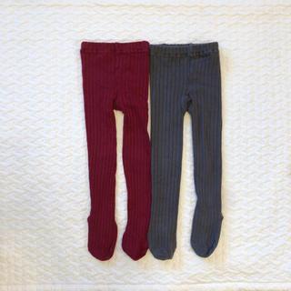 ザラキッズ(ZARA KIDS)のキッズ リブタイツ 2枚セット(靴下/タイツ)