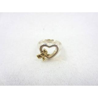 ティファニー(Tiffany & Co.)のティファニー ハート リボン リング 6.5号 シルバー925/K18YG(リング(指輪))