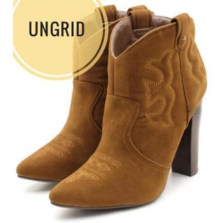 アングリッド(Ungrid)のアングリッド【新品、未使用】ウエスタン ショート ブーツ(ブーツ)