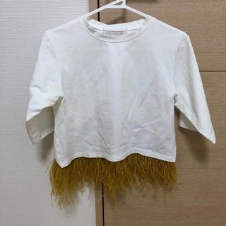 ハニーミーハニー(Honey mi Honey)のHONEYMIHONEYフェザートップス(Tシャツ(半袖/袖なし))