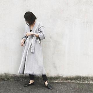 ロンハーマン(Ron Herman)の美品 ETRE TOKYO ヘリンボーンフリンジガウンコート(ロングコート)