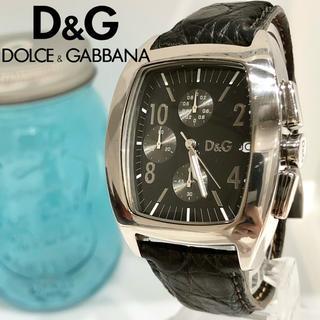 ドルチェアンドガッバーナ(DOLCE&GABBANA)の41 ドルガバ時計 メンズ腕時計 新品電池 クロノグラフ デイト入り(腕時計(アナログ))