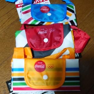 コカコーラ(コカ・コーラ)のTOKYO2020オリンピックコカ・コーラオリジナル折りたたみ式エコバッグ3個(ノベルティグッズ)