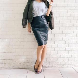 ジェイダ(GYDA)のGYDA レザースカート(ひざ丈スカート)