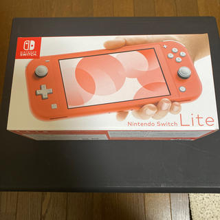ニンテンドースイッチ(Nintendo Switch)のNintendo Switch Lite コーラル 新品未使用品(家庭用ゲーム機本体)