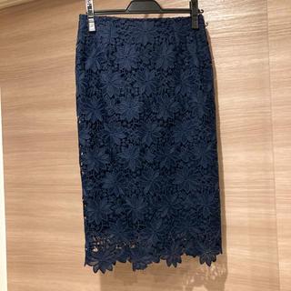 エヌナチュラルビューティーベーシック(N.Natural beauty basic)の[ナチュビュ]レーススカート(ひざ丈スカート)