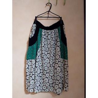 ツモリチサト(TSUMORI CHISATO)のツモリチサト スカート ビスケット柄(ひざ丈スカート)