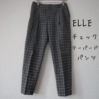 ELLE - ELLE レディース チェック パンツ スラックス