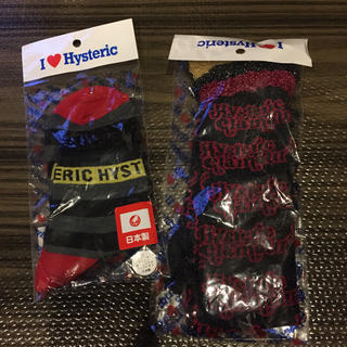 ヒステリックミニ(HYSTERIC MINI)のヒステリックミニ、新品22から24センチ用靴下二足まとめ売り、いいね不要‼️(靴下/タイツ)