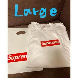 シュプリーム(Supreme)のSupreme L/S Box Logo Tee 20aw L 白 white(Tシャツ/カットソー(七分/長袖))