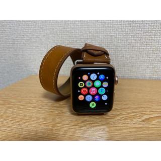 アップルウォッチ(Apple Watch)のApple Watch 3 GPS+Cellular 42mm ゴールド(腕時計(デジタル))
