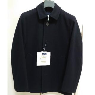 マッキントッシュフィロソフィー(MACKINTOSH PHILOSOPHY)の新品タグ付 マッキントッシュフィロソフィー シングルコート 紺 36(ステンカラーコート)