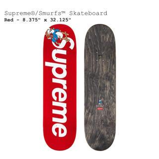 シュプリーム(Supreme)のSupreme Smurf skateboard スマーフ デッキ 赤(スケートボード)