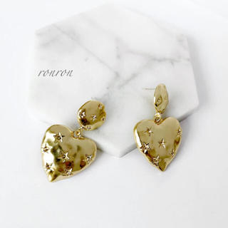 フリークスストア(FREAK'S STORE)のgold heart star pierce(ピアス)