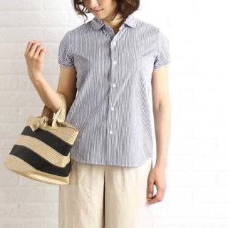 ルグラジック(LE GLAZIK)のルグラジック le glazik ストライプ 半袖シャツ ブラウス(シャツ/ブラウス(半袖/袖なし))