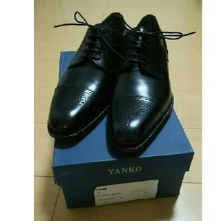 YANKO - YANKO ヤンコ 外羽根 セミブローグ 6 ブラック