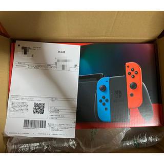 ニンテンドースイッチ(Nintendo Switch)の【新品・未開封】Switch 任天堂スイッチ 本体 ネオンブルー ニンテンドウ(家庭用ゲーム機本体)