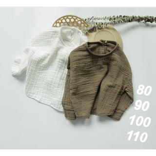 プティマイン(petit main)のリネンロングTシャツ  80~110  韓国子供服  男女兼用(Tシャツ)