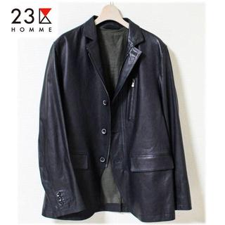 ニジュウサンク(23区)のteien様専用 2点セット 新品 上質羊革使用 ラムレザージャケット(レザージャケット)