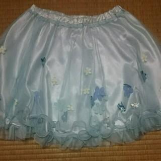 シークレットマジック(Secret Magic)の お花つきチュールスカート(ひざ丈スカート)