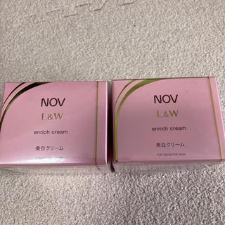 ノブ(NOV)のノブ L &W エンリッチクリーム 48g×2個セット(フェイスクリーム)