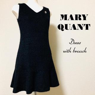 マリークワント(MARY QUANT)のMARY QUANT マリークワント デイジーブローチ付ワンピース(ひざ丈ワンピース)