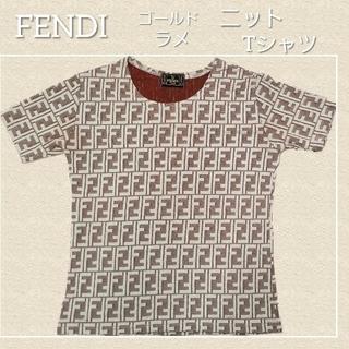 フェンディ(FENDI)のFENDI ニット薄手Tシャツ 希少ヴィンテージ(Tシャツ(半袖/袖なし))