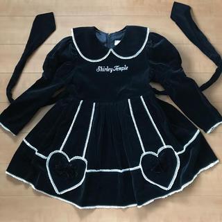 Shirley Temple - シャーリー 110 黒ベッチン ワンピース