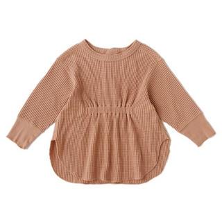 プティマイン(petit main)のプティマイン 120 ワッフルギャザーチュニック(Tシャツ/カットソー)