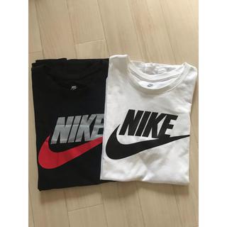 ナイキ(NIKE)のNIKE ナイキ★白黒Tシャツ2枚セットSサイズ(Tシャツ/カットソー(半袖/袖なし))