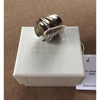マルタンマルジェラ(Maison Martin Margiela)のXS新品 メゾン マルジェラ カフ リング 指輪 アーマーリング シルバー(リング(指輪))