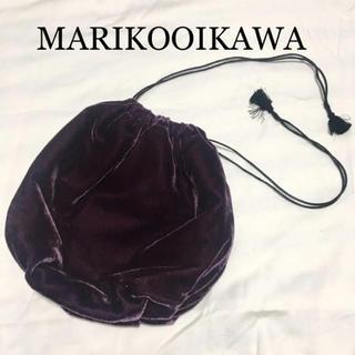 ツルバイマリコオイカワ(TSURU by Mariko Oikawa)の【美品】マリコオイカワ 巾着バッグ ベロア ツルバイマリコオイカワ(ハンドバッグ)