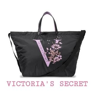 ヴィクトリアズシークレット(Victoria's Secret)の【新品】VICTORIA'S SECRET ナイロントートバッグ ブラック(トートバッグ)