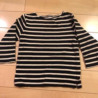 ムジルシリョウヒン(MUJI (無印良品))のお得!無印良品、子供服、長袖シャツ、ボーダー柄、サイズ100(ブラウス)