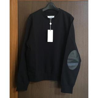 マルタンマルジェラ(Maison Martin Margiela)の黒50新品 メゾン マルジェラ エルボーパッチ スウェット ブラック 18SS(スウェット)