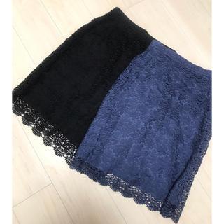ユニクロ(UNIQLO)のユニクロ レーススカート Mサイズ(ひざ丈スカート)