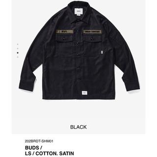 ダブルタップス(W)taps)のWTAPS BUDS LS COTTON SATIN バッズ ブラック L(シャツ)